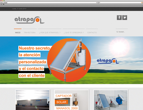 Diseño web - Indiproweb - Atrapasol