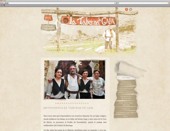 Diseño Web - Indipro - La taberna de Gaia